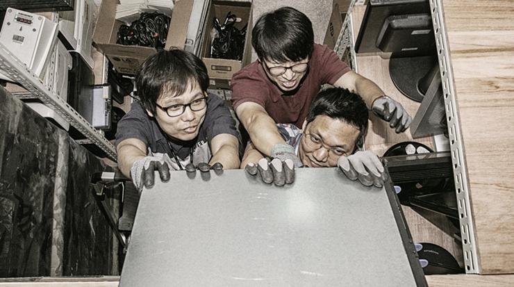 [B컷 사진관] (9) IT시스템팀 삼총사